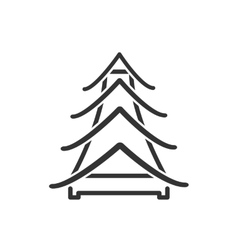 Icon Chinese pagoda vector
