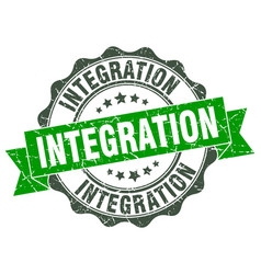 Integration stamp sign seal vector