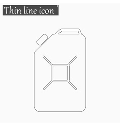 Jerrycan oil icon Style thin line vector image