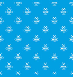 knife pattern seamless blue vector image