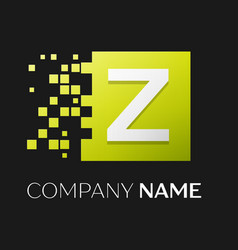 Letter z logo symbol in the colorful square vector