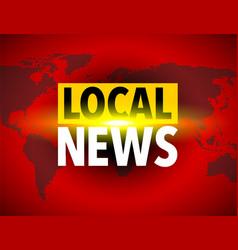 Local news world icon vector