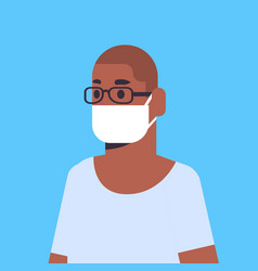 man wearing face mask environmental industrial vector image