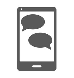 mobile chat icon simple vector image