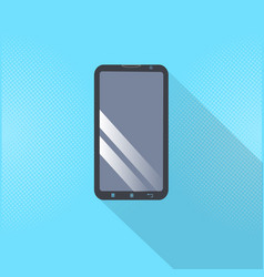modern cell smartphone icon digital mobile phone vector image