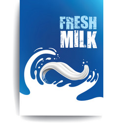 Packaging milk splash like tongue vector