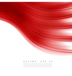 Red background curve vector image
