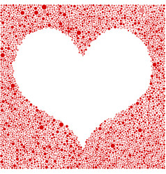 Red bubbles circle heart frame love vector