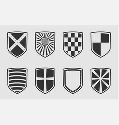safe and guard protect symbol set heraldic shield vector image