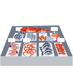 seafood proper nutrition fresh produce in vector image