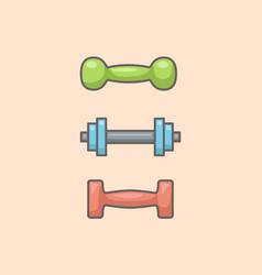 set of dumbbells vector image