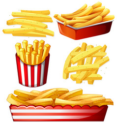 Set of hot chips vector