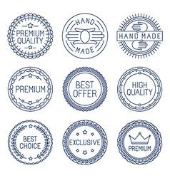 set premium labels vector image
