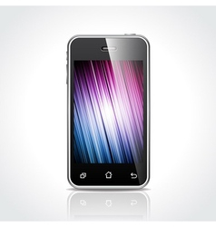 shiny touchscreen mobile vector image