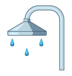 Shower icon cartoon style vector