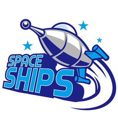 Spaceship mascot design vector