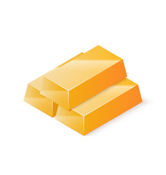 stack of gold bars isometric vector image