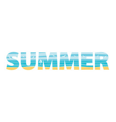 summer in the double exposure vector image