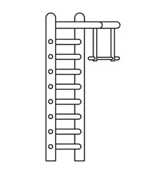 Swedish ladder icon outline style vector
