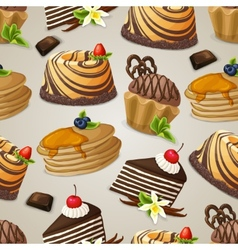 Sweets dessert seamless pattern vector