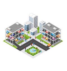 Traffic transport city multi-story parking carpark vector
