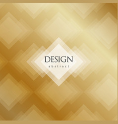 Transparent golden rhombus abstract background vector