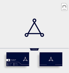 Triangle line art style logo template icon element vector