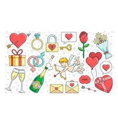 valentines day graphics vector image