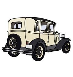Vintage cream limousine vector