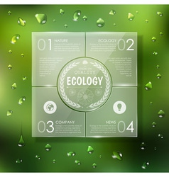 Website template design Ecology background vector image