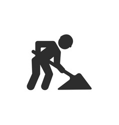 Workman construction icon vector