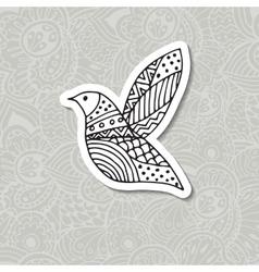 Zentangle stylized bird Hand drawn vector image