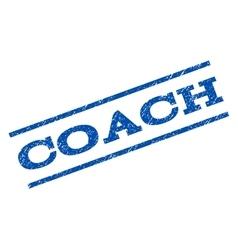 Coach watermark stamp vector