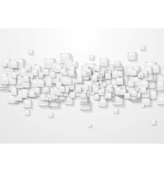 Grey squares abstract tech background vector image