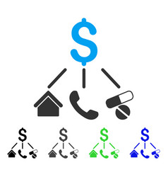 Life expenses flat icon vector