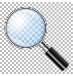 magnifying glass loupe vector image vector image