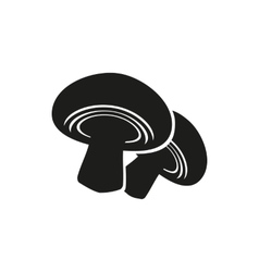 Mushroom on white vector image vector image