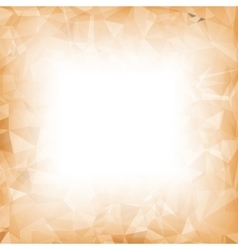 Orange Polygonal Background vector image