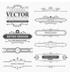 Set of Vintage Decorations Elements vector image vector image