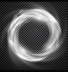 smoke ring light effect with trasparency vector image