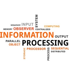 word cloud information processing vector image