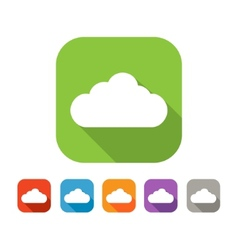 Color set of flat cloud icon vector image