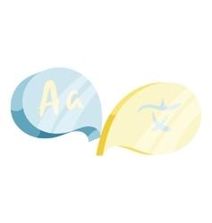 English Japan translation concept icon vector image vector image