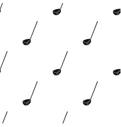 golf club icon in black style isolated on white vector image
