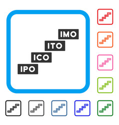 Imo levels framed icon vector