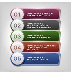 Infographics design eps10 vector image