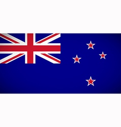 National flag of New Zealand vector image