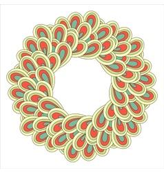 Retro ornamental round lace pattern vector image vector image