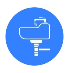 Sink icon in black style isolated on white vector image