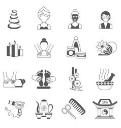 Spa Icons Black Set vector image
